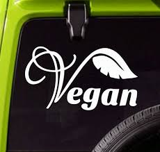 Vegan Car Vinyl Decal Vegetarian Truck Or Bumper Sticker Wish