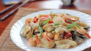 Mixed Seafood in Oyster Sauce - Ang Sarap
