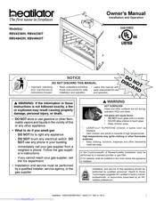 heatilator rbv4236it manuals