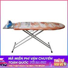 Nơi bán Bàn để ủi quần áo, Cầu là quần áo khung bằng thép HT09 kích thước  33cm x 100cm. giá rẻ 219.000₫
