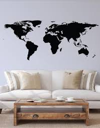 World Map Wall Decal Great Living Room Decor 131 Stickerbrand