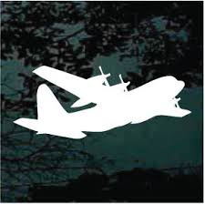 C130 Hercules Aircraft 03 Decals Car Window Stickers Decal Junky
