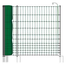 Voss Farming Classic 50m Premium Chicken Fence Poultry Netting 112cm 20 Posts 2 Spikes