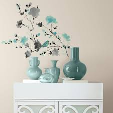 Blossom Watercolor Bird Branch Peel And Stick Wall Decals Peel And Stick Decals The Mural Store