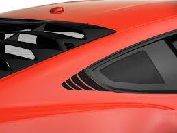 Sec10 Mustang Quarter Window Accent Decals Matte Black 390409 15 20 All