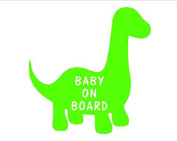 Babysaurus On Board Car Decal Vinyl Sticker 3 Options Of Etsy