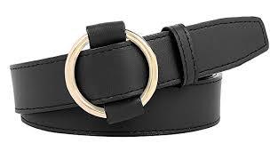 faux leather belt black free size b