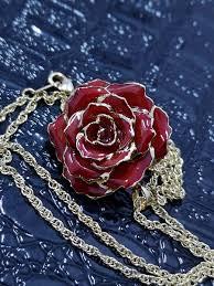 الورد الطبيعي On Twitter عقد الورد الطبيعي المطلي بالذهب اللون