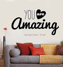 Vinyl Decal Wall Sticker Inspirational Motivational Quotes Words Amazing N862 Ebay