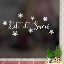 Let It Snow Snowflakes Vinyl Wall Art Decal Christmas Holiday Seasonal Sticker Indoor Outdoor Home Office Window Bedroom Workplace Decor Walmart Com Walmart Com