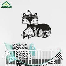 Tribal Fox Wall Decal Woodland Fox Wall Sticker For Kids Room Cute Animal Baby Nursery Decor Art Vinyl Wall Art Poster Peelable Wall Stickers Personalised Wall Stickers From Onlinegame 12 39 Dhgate Com