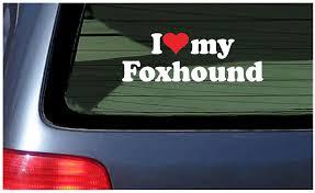 I Love My Foxhound Sticker Vinyl Decal Car Window Fox Hound Fun Dog Puppy Breed Ebay