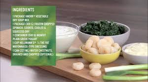knorr spinach and greek yogurt dip