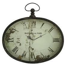 oval pocket watch style wall clock