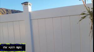 How To Get Rid Of Gaps In Vinyl Fence Youtube