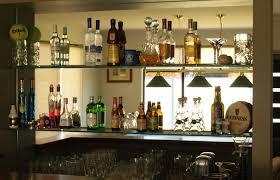 glass shelves for home bar shelving