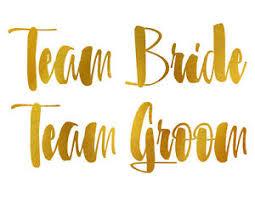 Team Groom And Bride Vinyl Decal Sticker Laptop Sticker Truck Ebay