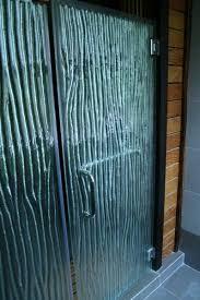 shower enclosure textured glass wave