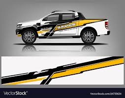 Truck Wrap Design Wrap Sticker And Decal Design Vector Image