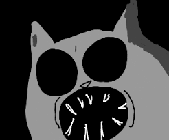 the scary cat from flapjack drawception
