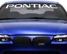 Pontiac Windshield Banner Decal Sticker Custom Sticker Shop