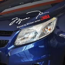 Newest Signature Stickers By The Mvp Michael Jordan Car Stickers And Decal For Toyota Lada Tesla Vw Chevrolet Cruze Kia Sticker Storage Stickers For Your Carsticker Winnie Aliexpress