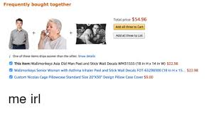 Wall Decal Idea Wall Decal Of Old Woman With Asthma
