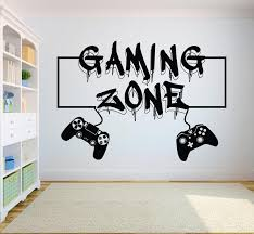 Gamer Wall Decal Gaming Zone Eat Sleep Game Controller Video Etsy In 2020 Vinyl Wall Art Bedroom Wall Decals Vinyl Wall Art Decals