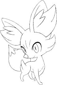 Kleurplaten Pokemon Fennekin Kleurplaten Pokemon