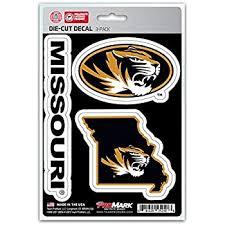 Amazon Com Missouri Tigers Mizzou M With Tiger Head Vinyl Decal 4 Car Truck Ua Wildcats Sticker Everything Else