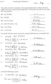 general chemistry worksheets