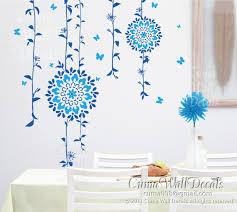 Blue Floral Wall Decals Tree Vinyl Wall Cuma Wall Decals