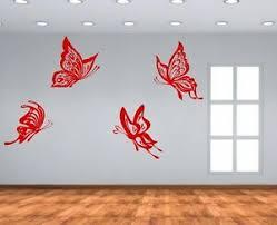 4 Huge Butterflies Amazing Wall Stickers Vinyl Decal Decor Highest Quality Uk Ebay
