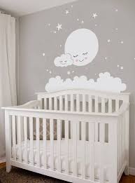 Moon Clouds And Stars Wall Decal Vinyl Wall Sticker Decoracao Quarto Bebe Pequeno Decoracao Quarto Bebe Feminino Decoracao De Bercario