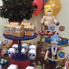 Decoracion Para Cumpleanos De Clash Royale Decoracion De Fiestas