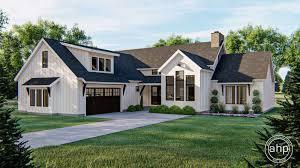 1 story modern farmhouse plan statesboro