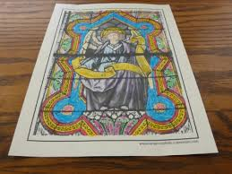 21 stained glass coloring pages