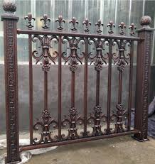 Decorative Metal Fence Cheap Wrought Iron Fence Panels For Sale Buy Powder Coated Black Aluminum Fence And Fence Gate Railing Tubular Steel Picket Fence Used Cheap Wrougth Iron Fence Panel For Sale Direct