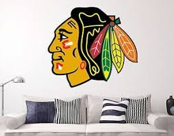 Chicago Blackhawks Nhl Wall Decal Sports Hockey Sticker Vinyl Decor Many Size Hd Ebay