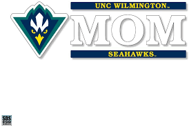 Amazon Com Unc Wilmington Seahawks 6 X2 Mom Logo Auto Vinyl Decal Sports Outdoors