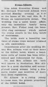 Ada Evans marries Howard W. Allman - Newspapers.com