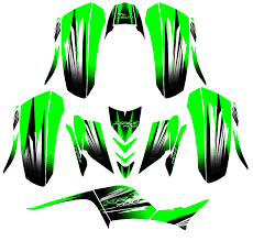 Custom Mx Vinyl Decal Graphics Sticker Kit Compatible With Kawasaki Kfx 700 Green Sale Affordable Quad Graphics Moto X Stickers Road Bike Decals Atv Store