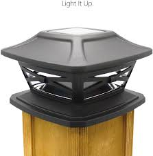 Home Taste Solar Post Lights Outdoor Post Cap Light For Fence Deck Patio Solar Powered Caps Warm White Led Lighting Lamp Fits 4x4 Or 6x6 Posts Slate Black Lazada Ph