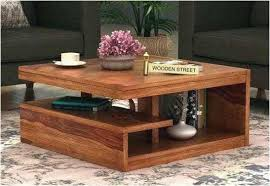 round wooden coffee table designs