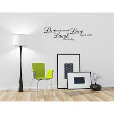 Live Every Moment Laugh Everyday Love Beyond Words Vinyl Wall Decal Quote Walmart Com Walmart Com