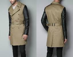zara faux leather jacket men