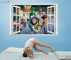 3d Window Scenery Toy Story 3 Woody Wall Sticker Home Decals Kid Nursery Decor Wall Lettering Decals Wall Motifs From Gonglangdianzi01 7 64 Dhgate Com