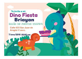 Invitacion Dinosaurio Personalizada Cumpleanos 4 Imprimible