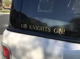 Go Knights Go Vinyl Decal Sticker Golden Knights Hockey Vegas Golden Knights Knight