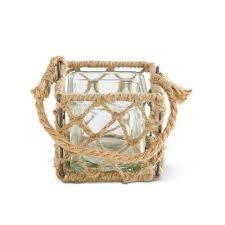 square rope basket glass lantern by k k